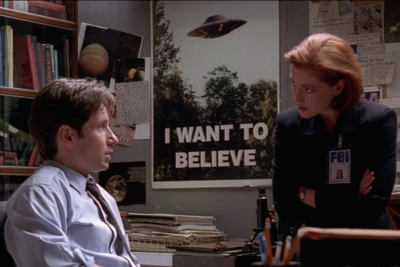 Object of Intrigue: The X-Files' 'I Want to Believe' Poster ...