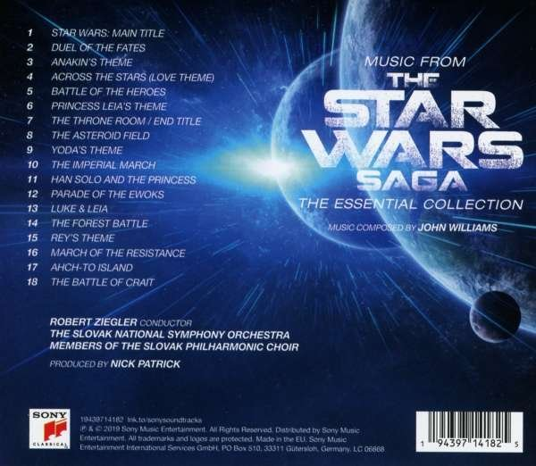 Filmmusik: Music From The Star Wars Saga: The Essential Collection, CD (Rückseite)